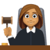 👩🏽‍⚖️ woman judge: medium skin tone Emoji on Facebook Platform