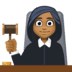 👩🏾⚖️ Medium Dark Skin Tone Female Judge Emoji on Facebook Platform