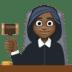 👩🏿⚖️ woman judge: dark skin tone Emoji on Facebook Platform