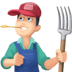👨🏻🌾 man farmer: light skin tone Emoji on Facebook Platform