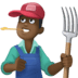 👨🏿‍🌾 man farmer: dark skin tone Emoji on Facebook Platform