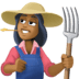 👩🏾‍🌾 woman farmer: medium-dark skin tone Emoji on Facebook Platform