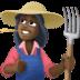 👩🏿🌾 woman farmer: dark skin tone Emoji on Facebook Platform