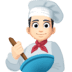 👨🏻‍🍳 man cook: light skin tone Emoji on Facebook Platform