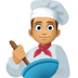👨🏽‍🍳 man cook: medium skin tone Emoji on Facebook Platform