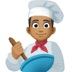 👨🏾‍🍳 man cook: medium-dark skin tone Emoji on Facebook Platform