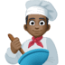 👨🏿‍🍳 man cook: dark skin tone Emoji on Facebook Platform