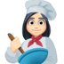 👩🏻‍🍳 woman cook: light skin tone Emoji on Facebook Platform