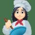 👩🏻🍳 woman cook: light skin tone Emoji on Facebook Platform