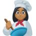 👩🏾‍🍳 woman cook: medium-dark skin tone Emoji on Facebook Platform