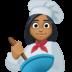 👩🏾🍳 woman cook: medium-dark skin tone Emoji on Facebook Platform