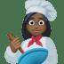 👩🏿🍳 woman cook: dark skin tone Emoji on Facebook Platform