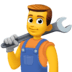 👨🔧 man mechanic Emoji on Facebook Platform