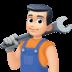 👨🏻🔧 man mechanic: light skin tone Emoji on Facebook Platform