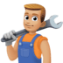 👨🏼🔧 Medium Light Skin Tone Male Mechanic Emoji on Facebook Platform
