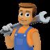 👨🏽🔧 man mechanic: medium skin tone Emoji on Facebook Platform