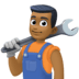👨🏾🔧 man mechanic: medium-dark skin tone Emoji on Facebook Platform