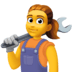 👩‍🔧 woman mechanic Emoji on Facebook Platform