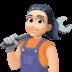 👩🏻🔧 woman mechanic: light skin tone Emoji on Facebook Platform