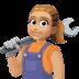 👩🏼🔧 woman mechanic: medium-light skin tone Emoji on Facebook Platform