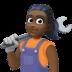 👩🏿🔧 Dark Skin Tone Female Mechanic Emoji on Facebook Platform