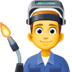 👨‍🏭 man factory worker Emoji on Facebook Platform