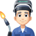 👨🏻‍🏭 man factory worker: light skin tone Emoji on Facebook Platform