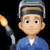 👨🏼🏭 man factory worker: medium-light skin tone Emoji on Facebook Platform