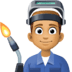 👨🏽‍🏭 man factory worker: medium skin tone Emoji on Facebook Platform