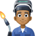 👨🏾‍🏭 man factory worker: medium-dark skin tone Emoji on Facebook Platform