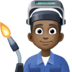 👨🏿‍🏭 man factory worker: dark skin tone Emoji on Facebook Platform