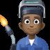 👨🏿🏭 Dark Skin Tone Male Factory Worker Emoji on Facebook Platform