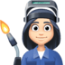 👩🏻‍🏭 woman factory worker: light skin tone Emoji on Facebook Platform