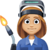 👩🏼🏭 woman factory worker: medium-light skin tone Emoji on Facebook Platform