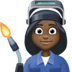 👩🏿‍🏭 woman factory worker: dark skin tone Emoji on Facebook Platform