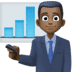 👨🏿‍💼 man office worker: dark skin tone Emoji on Facebook Platform