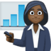 👩🏿‍💼 woman office worker: dark skin tone Emoji on Facebook Platform