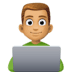👨🏽💻 man technologist: medium skin tone Emoji on Facebook Platform