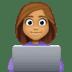 👩🏽💻 woman technologist: medium skin tone Emoji on Facebook Platform