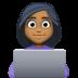 👩🏾💻 woman technologist: medium-dark skin tone Emoji on Facebook Platform