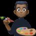 👨🏿🎨 man artist: dark skin tone Emoji on Facebook Platform