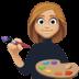 👩🏼🎨 woman artist: medium-light skin tone Emoji on Facebook Platform