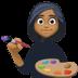 👩🏾🎨 woman artist: medium-dark skin tone Emoji on Facebook Platform