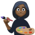 👩🏿‍🎨 woman artist: dark skin tone Emoji on Facebook Platform