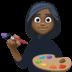 👩🏿🎨 woman artist: dark skin tone Emoji on Facebook Platform