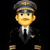 👨✈️ man pilot Emoji on Facebook Platform