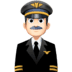 👨🏻‍✈️ man pilot: light skin tone Emoji on Facebook Platform