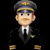 👨🏼✈️ man pilot: medium-light skin tone Emoji on Facebook Platform