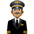 👨🏾‍✈️ man pilot: medium-dark skin tone Emoji on Facebook Platform