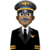 👨🏿‍✈️ man pilot: dark skin tone Emoji on Facebook Platform